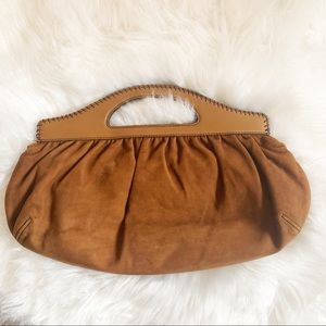 Cole Haan Brown Suede Leather Clutch 👛 Purse